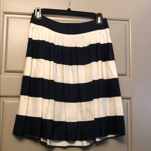 Navy and white striped skirt.